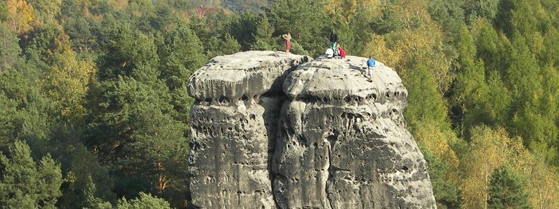 Klettern im Elbsandstein, Klettergebiet Sächsische Schweiz