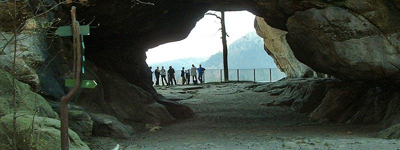 Kuhstall - Sandsteindurchbruch nahe Kirnitzschtal