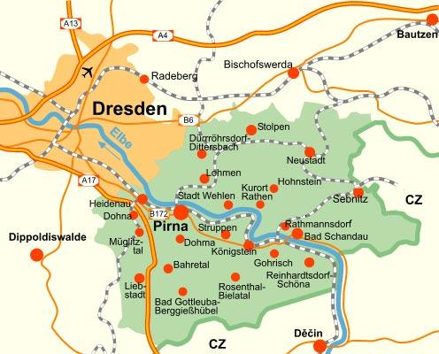 Sachsische Schweiz Lage Anreise Verkehrsverbindung